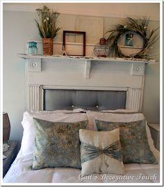 fireplace mantle headboard | Home Decor | Pinterest | Fireplace ...