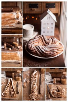 "{A real autumn recipe, special ""moral concrete"" Fall Recipes, Sweet Recipes, Christmas Recipes, Bread Shaping, Braided Bread, Bread And Pastries, Sweet Bread, Food Inspiration, Love Food"