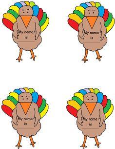 Turkey Name Tag Template.jpg (1019×1319)