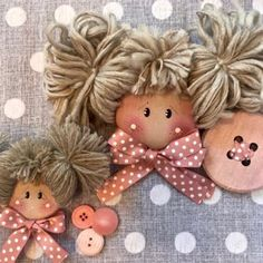 Best 12 Hand made Personalized Gifts – Puppet – Wedding Favors, Baby Favors, Dolls … Christmas Toys, Christmas Crafts For Kids, Christmas Angels, Handmade Christmas, Christmas Ornaments, Baby Sewing Projects, Sewing Dolls, Doll Hair, Fairy Dolls