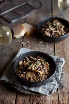 Mushroom and barley risotto #vegetarian #recipes