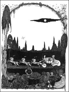 """Harry Clarke, illustration for Cinderella"""", from The Fairy Tales of Charles Perrault, 1922"""