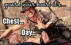 Monday is not a rest day it's... Chest Day!... Get After It!