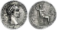 "14-37, denarius, Rome, Tiberius so named ""Tribute penny"". Av. Head to the right with laurel wreath. Rev: seated Livia as Pax to the right. 3.62g, BMC 34, Coh. 16, very fine.    Dealer  Dr. Reinhard Fischer Auktionen    Auction  Minimum Bid:  300.00 EUR"