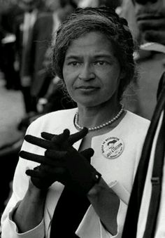 U.S. Rosa Parks attending a freedom rights march in Washington D.C in 1963