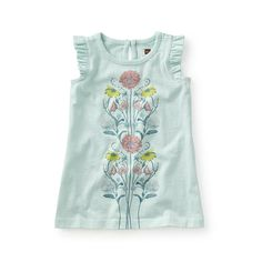 Accornero Graphic Baby Dress | The detailed design work on this dress is inspired by the unique drawing style of Italian artist and illustrator Vittorio Accornero. // Tea Collection