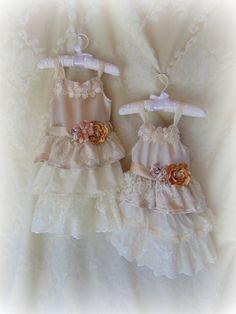 Ivory Lace Flower Girl DressBlush Flower Girl by HopefullyRomantic