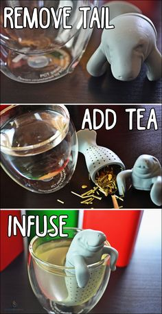 A cool tea infuser that's designed to look like manatee!