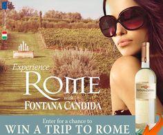 Fontana Candida Experience Rome Sweepstakes
