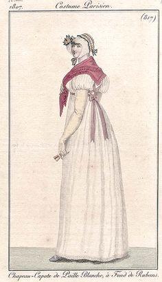 Pink sash 1807 Costume parisien