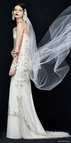 """The latest Alan Hannah wedding dresses shine in this elegant new campaign. The 2017 Alan Hannah """"Porcelain"""" bridal collection, designed by Marguerite 2017 Bridal, Bridal Gowns, Wedding Gowns, Beautiful Gowns, Beautiful Bride, Fairytale Gown, Luxury Wedding Dress, Glamorous Wedding, Wedding Hairstyles With Veil"""