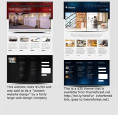 This is really a true story.  One of my clients just went through this with a fairly well known web design company.  We are building the whole thing over again from scratch, the right way.