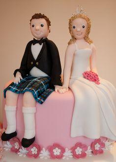 Bride and Groom - Wedding Cake
