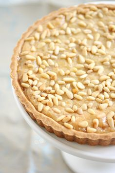 Italian Custard Tart: Torta di Nonna - by Desserts - For The Feast