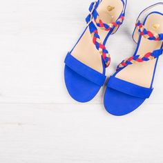 Sandales bleu aztek - La Chouquette - Bobbies