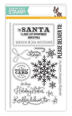 eeb3c3818215 Simon Says Clear Stamps HOLIDAY ENVELOPE SENTIMENTS SSS101352