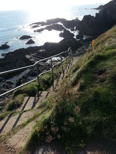 Stairs Down Cliff, Ballycotton - East Cork, Ireland