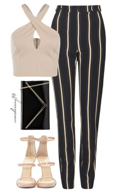 A fashion look from February 2016 featuring pink top, striped pants and pink sandals. Browse and shop related looks. Cute Casual Outfits, Outfits For Teens, Stylish Outfits, Girl Outfits, Fashion Outfits, Friend Outfits, Night Outfits, Work Fashion, Street Fashion