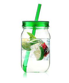 Look at this Green Acrylic 25-Oz. Mason Jar Tumbler on #zulily today!