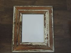 Frame made with bead board from an old by UptownArtsGranburyTX