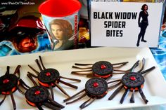 avengers party ideas | Black Widow Spider Bites {Perfect for Avengers Parties or Halloween!}