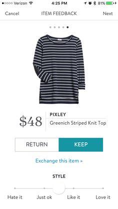 Pixley Greenich striped top stitch fix