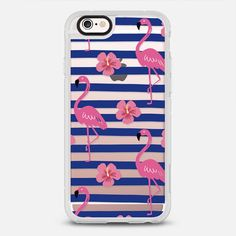 Pink flamingo - New Standard iPhone 6 Case in Clear and Clear by Nadya | @casetify