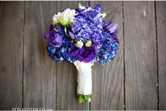 blue, violet, and indigo wedding