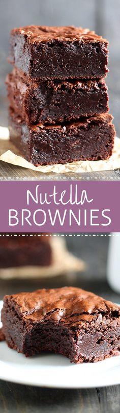 Nutella Brownies - Handle the Heat