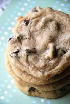 Soft and chewy chocolate chip cookies. Just made these, and they are delish! I'll try milk chocolate next time.