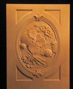Carved wood Panel - Harvest Panel