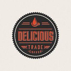 delicious trade coffee, logo, design, typography