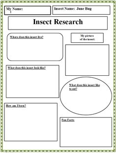 Insect Research Graphic Organizer - Technology Lab - Education Insect Activities, Science Activities, Writing Activities, Math Games, Grade 2 Science, Science Lessons, Science Classroom, Teaching Science, Teaching Ideas