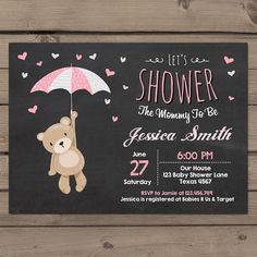 Teddy Bear Baby Shower Invitation Baby Shower by Anietillustration