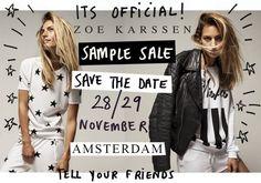 Zoe Karssen sample sale -- Amsterdam -- 28/11-29/11