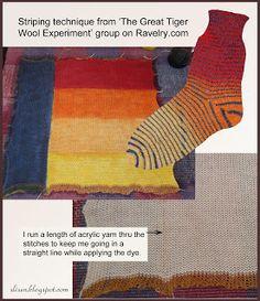 Slisen's Happy Place: Dyed Sock Blanks