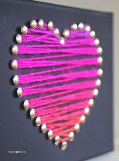 A canvas frame, thumbtacks, and a bit of variegated yarn makes a quick and easy piece of heart art that is perfect for the season of love Display it on your mantel or give it as a gift. I may even make a set to hang on the wall of my daughters room! Materials: – …