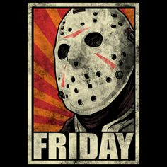 Check it and Wear it ! Jason Friday, Friday The 13th, Happy Friday, Dope Cartoons, Dope Cartoon Art, Scary Movies, Horror Movies, Jason Viernes 13, Horror Shirts