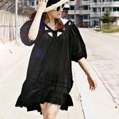 Wonderful Fragrance Flare Tunic Dress