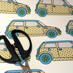 Working On An Idea For My Pineapple Covered Mini Cooper Pattern Shown Here In  Woven Wall