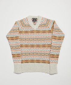 nigel cabourn 1940's fairisle, menswear, knitwear