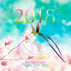 CARTE-DE-VOEUX-2018-COLIBRI-MULTICOLORE Tinkerbell, Happy New Year, Disney Characters, Fictional Characters, Disney Princess, Movie Posters, Map Pictures, Greeting Cards, Happy Year