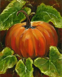 Pumpkin Painting by JHawkDesign on Etsy