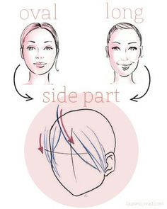 Best ways to part hair for oval/long faces