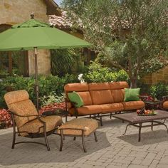 The Montreux URComfort® cushion lounge chairs by Tropitone. Available from Rich's for the Home http://www.richshome.com/