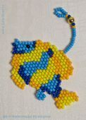 Fish (blue and yellow) beads