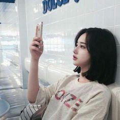 New Hair Styles Short Asian Korean Fashion Ideas Korean Girl Short Hair, Ulzzang Short Hair, Short Girls, Korean Short Hairstyle, Black Hair Korean, Ulzzang Hairstyle, Korean Haircut, Long Hairstyle, Ulzzang Girl Fashion
