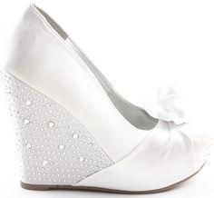 White Wedge Shoes | Clothes, Shoes & Accessories > Women's Shoes > Sandals & Beach Shoes