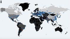 WannaCry ransomware surto mapa