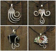 artículos de joyería realizados con cubiertos de plata o alpaca reciclados.